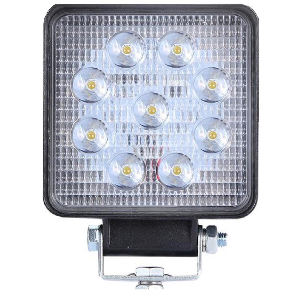 Off Road Beyaz Işık Sis Farı Lambası 9 Led Kare 9-30v 27 Watt