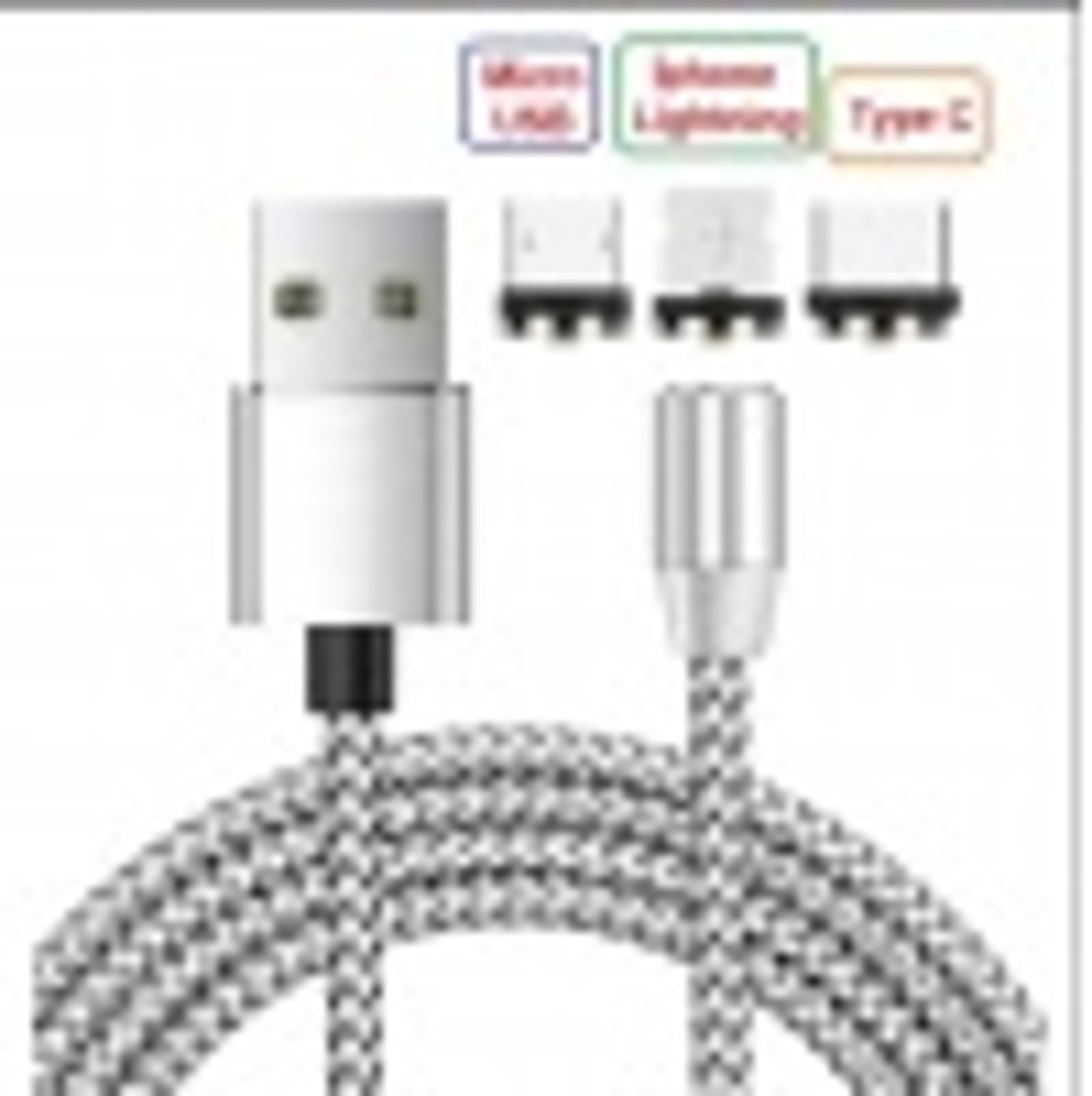 phone Lightning Samsung Micro Usb Type C Mıknatıslı Şarj Kablosu