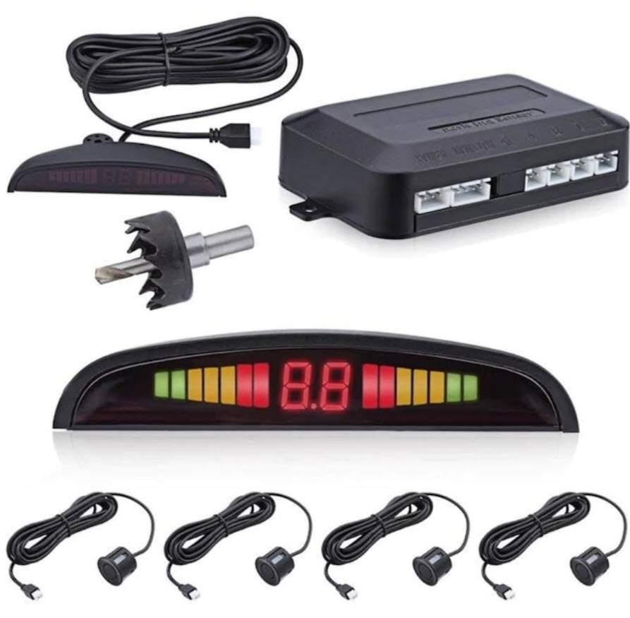 Park Sensörü Lcd Göstergeli Ses İkazlı Siyah Sensör 22mm