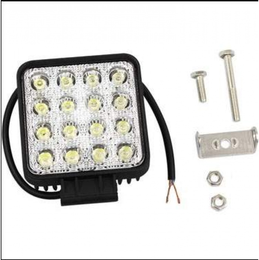Off Road Beyaz Işık Sis Farı Lambası 16 Led Kare 12-24v 48 Watt